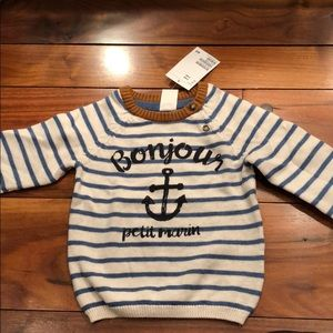 New H&M Baby boy French Sailor sweater 4-6 months